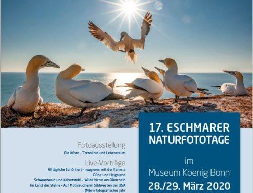 17. Eschmarer Naturfototage 28/29 März 2020 im Museum König in Bonn